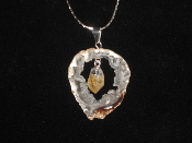 Geode and Citrine Necklace
