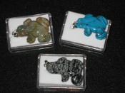 Stone Frog Necklaces