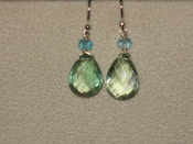 Green Fluorite and Blue Apatitie Earrings