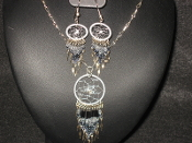 Dream Catcher Necklace and Earring Set