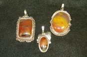 Navajo Made Petrified Wood Pendants