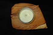 Thick Sandstone Candle Holder