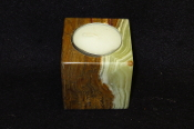 Banded Onyx Candle Holder