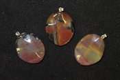 Rippled Oval Pendants