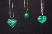Malachite Heart Necklaces