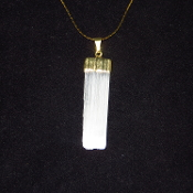 Selenite with Gold colored chain
