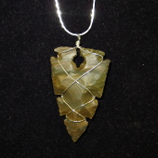 Large Agate Arrowhead Necklace