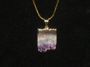 Sliced Amethyst Necklace