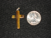 TigerEye Cross Pendant