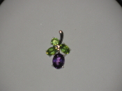 Amethyst and Peridot Pendant