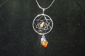 Citrine Dream Catcher Necklace