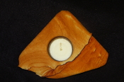 Flat Sandstone Candle Holder