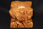 Rough Sandstone Candle Holder