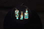 Navajo Made Turquoise Pendants