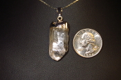 Silver Colored Quartz Crystal Necklace
