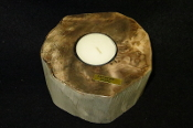 Indonesian Petrified Wood Candle Holder