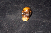 Tiger Eye Mini Skull