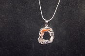 Silver Colored Geode Necklace