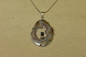 Geode and Smokey Quartz Necklace