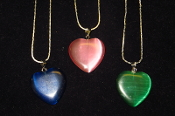 Fiber Optic Heart Necklaces