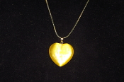 Yellow Fiber Optic Heart Necklace