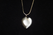 Silver Fiber Optic Heart Necklace