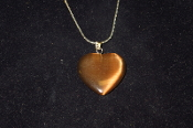 Brown Fiber Optic Heart Necklace