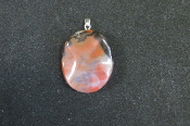 Rippled Oval Pendant
