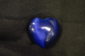 Dark Blue Fiber Optic Heart