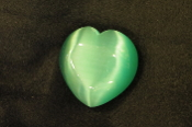 Teal Green Fiber Optic Heart
