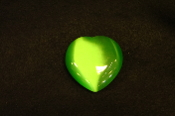 Green Fiber Optic Hearts