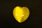 Yellow Fiber Optic Heart