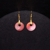 Gold colored 20mm Circle Earrings
