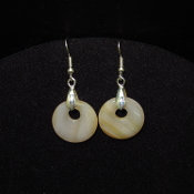 20mm Silver Colored Circle Earrings
