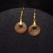 20mm Gold Colored Circle Earrings