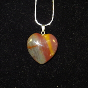 AZ Petrified Wood Heart Necklaces