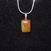 Simple Rectangle Cabochon Necklace