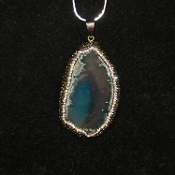 Rhinestone Agate Necklace