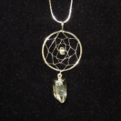 Quartz Crystal Dream Catcher Necklace