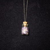Amethyst Bottle Necklace