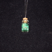 Green Quartz Bottle Necklace