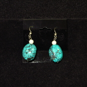Turquoise and Sterling Silver Earrings