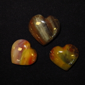 AZ Petrified Wood Hearts